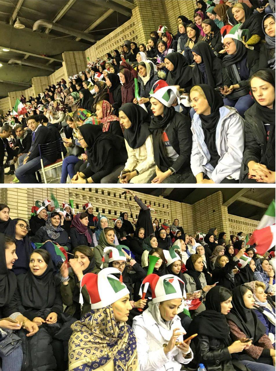 استقبال زنان از حضور در ورزشگاه (عکس)