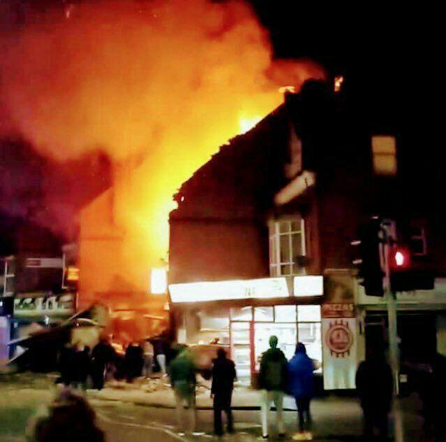 وقوع انفجاری مهیب در شهر «لستر» انگلیس (+عکس)