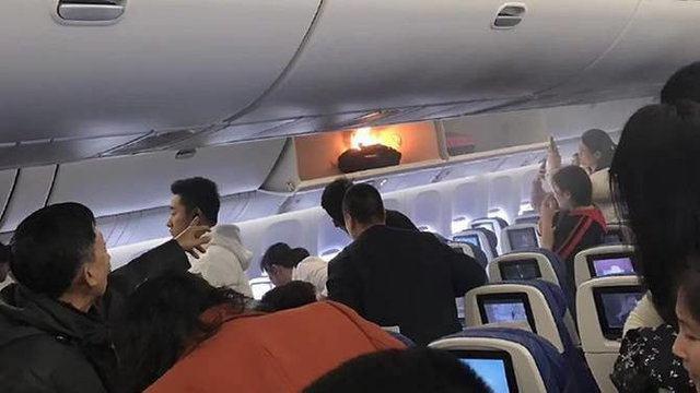 انفجار یک پاوربانک در هواپیمای چینی (+عکس)