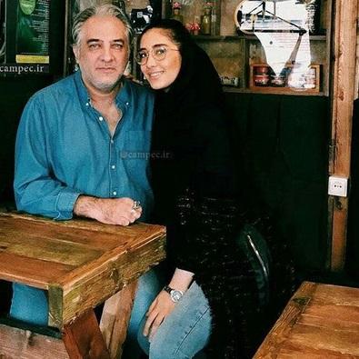 ایرج نوذری در کنار دخترش (عکس)