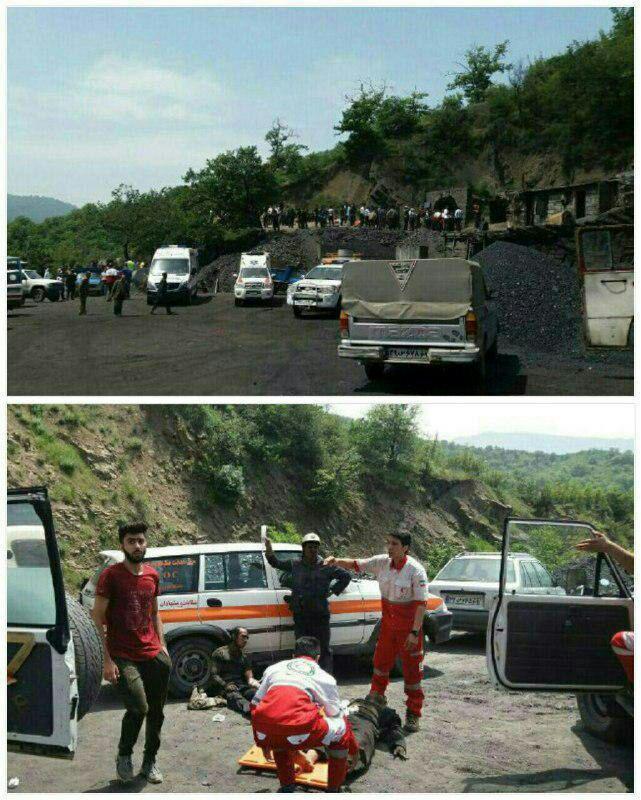 انفجار در معدن زغال سنگ استان گلستان/ 40 مصدوم/ احتمال محبوس شدن 80 کارگر