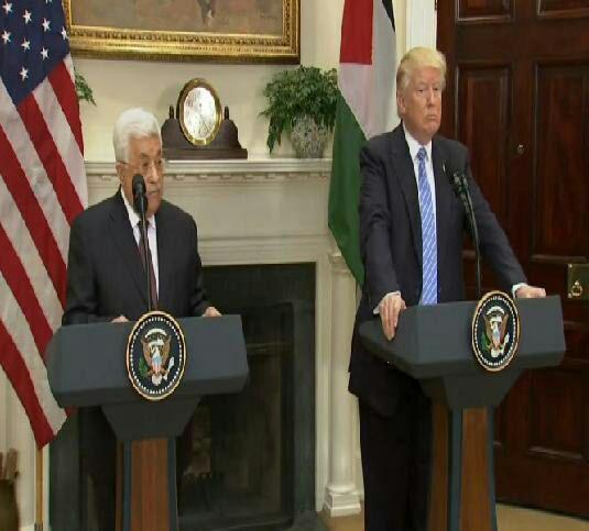 دیدار محمود عباس با ترامپ در کاخ سفید (+عکس)