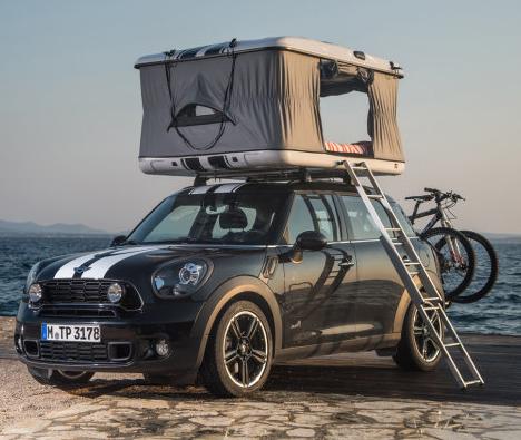 چادرهای سقفی روی خودروهای کوچک مینی