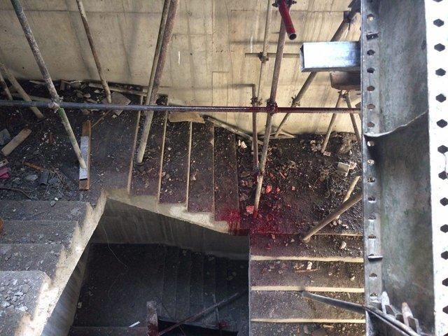 مرگ کارگری در اثر سقوط از ارتفاع در سمنان (+عکس)