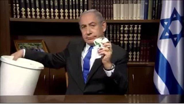 نتانیاهو سند سیاسی جدید حماس را پاره کرد و در سطل زباله انداخت (+عکس)