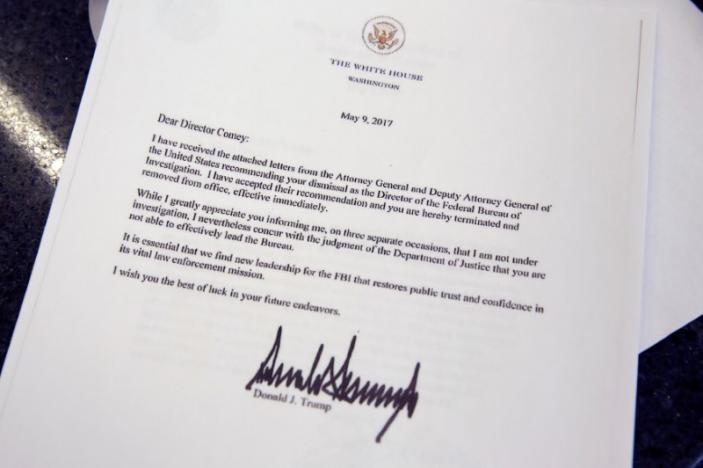 نامه اخراج رئیس افبیآی با امضای ترامپ (عکس)