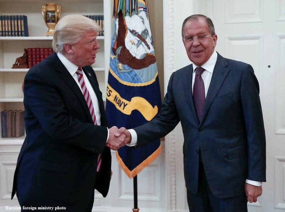 دیدار ترامپ و لاوروف در کاخ سفید (+عکس)