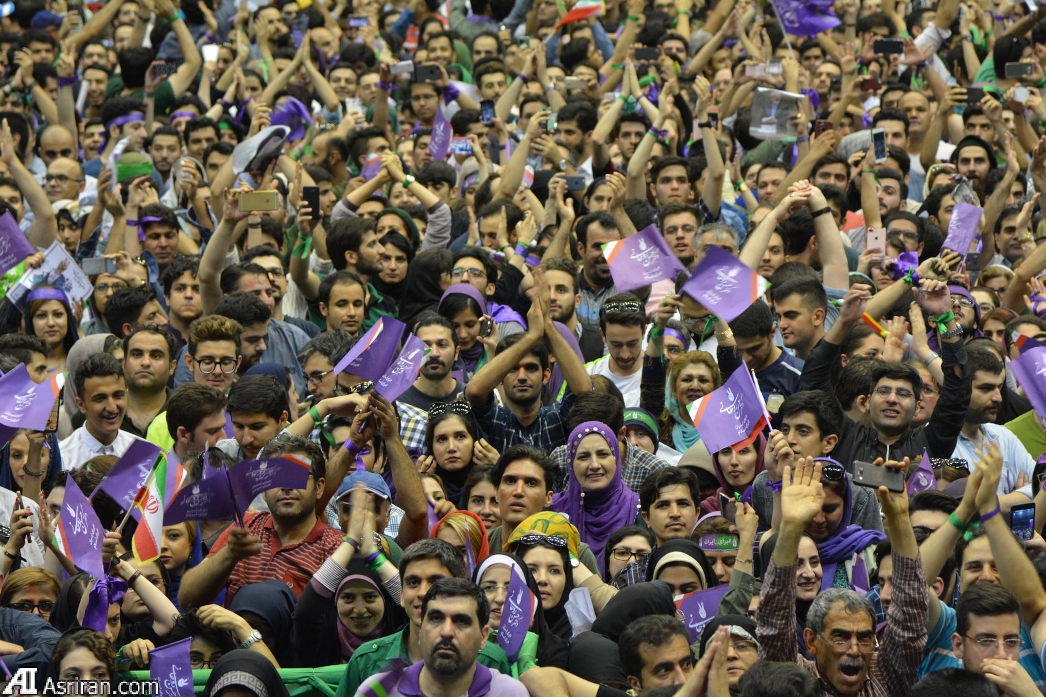 نتیجه تصویری برای طرفداران روحانی