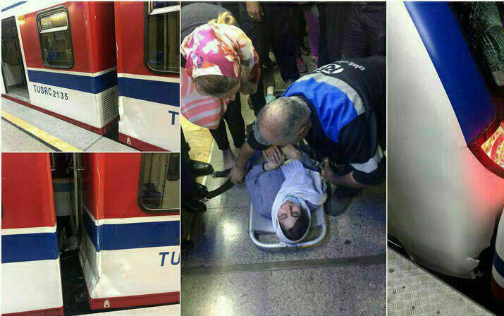 تصادف ۲ قطار مترو تهران در ایستگاه طرشت (+عکس)