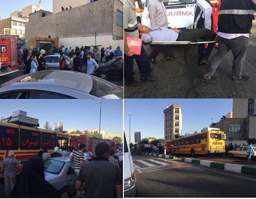 تصادف ۲ قطار مترو تهران در ایستگاه طرشت/ مصدومیت 48 نفر/ اعزام آمبولانس ها به محل (+عکس)