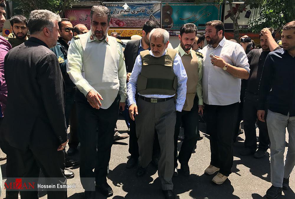 دادستان تهران در محل حادثه تیراندازی در مجلس
