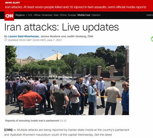 حملات تروریستی تهران در صدر تحلیل رسانه های جهانی