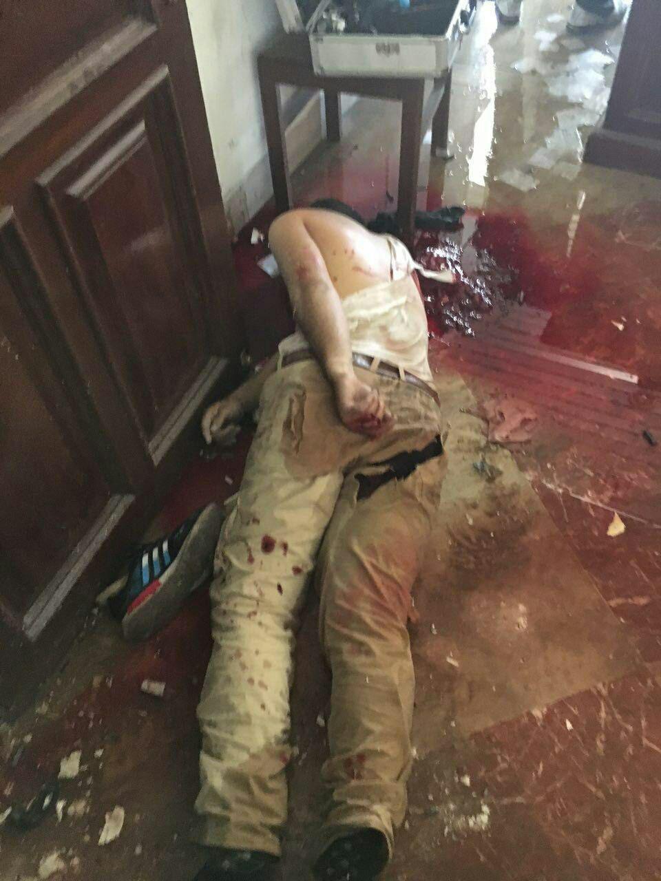 یکی از مهاجمان مسلح به مجلس (عکس)
