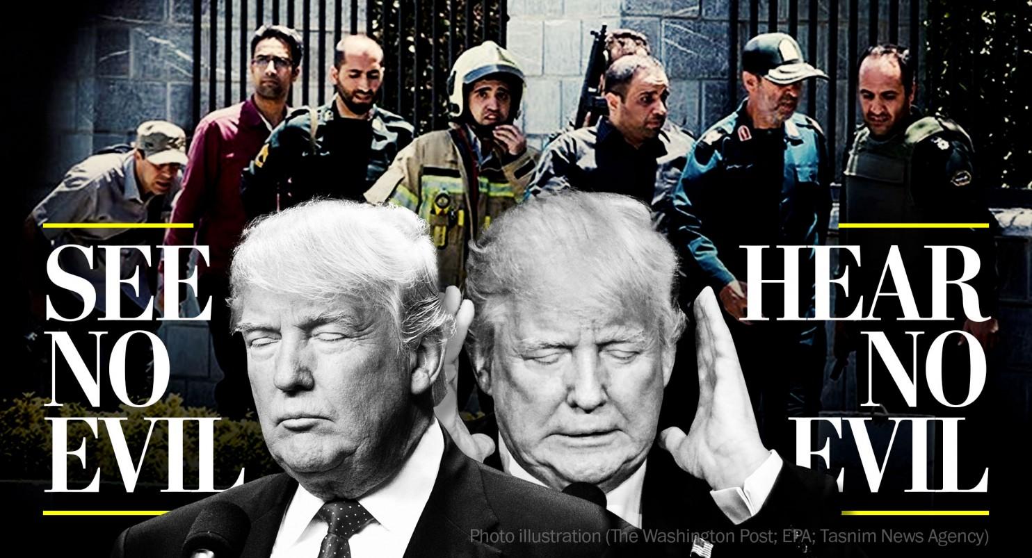 واشنگتن پست: حملات تروریستی تهران دورویی ترامپ و متحدانش را به نمایش گذاشت
