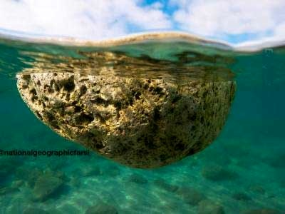 سنگی که روی آب شناور میماند (عکس)