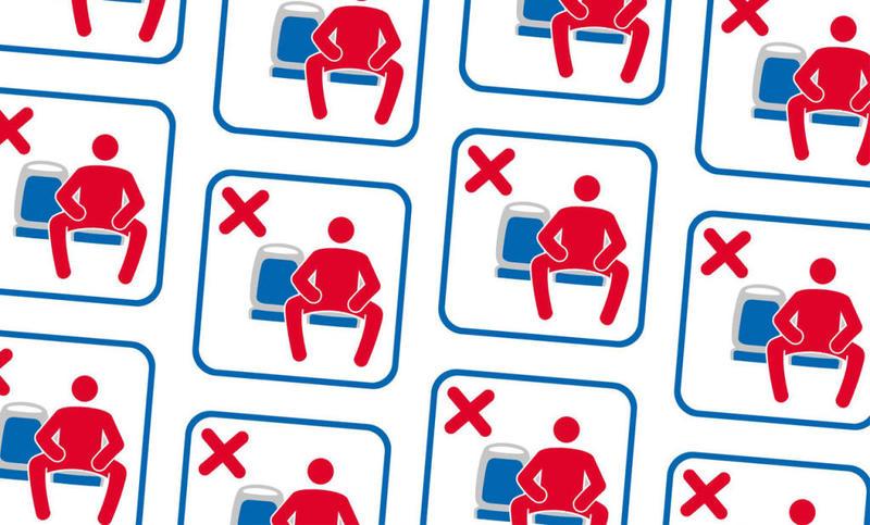 اسپانیا: نشستن با پای باز ممنوع