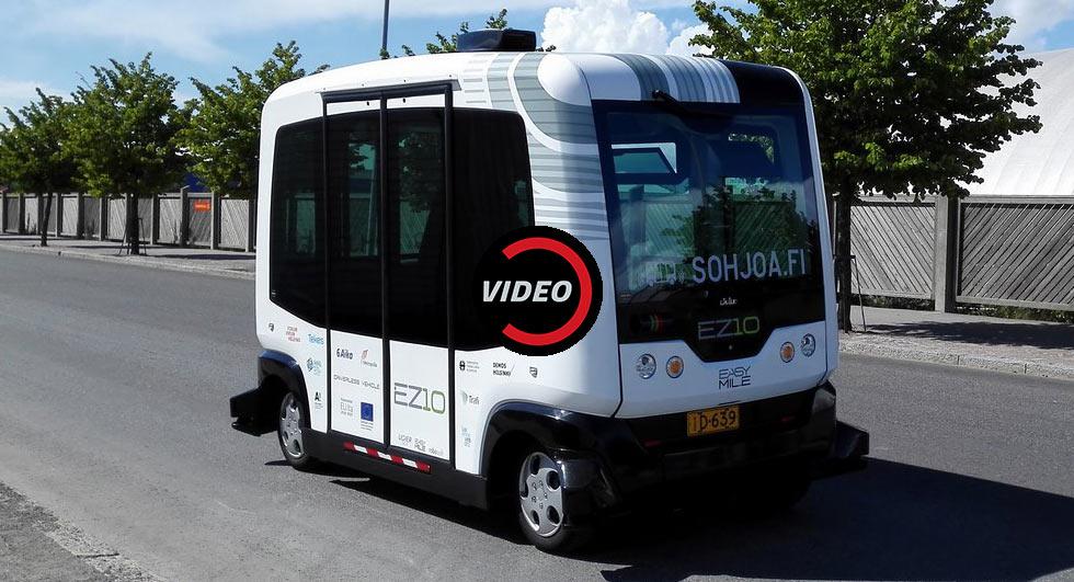 حرکت اتوبوسهای خودران در فنلاند