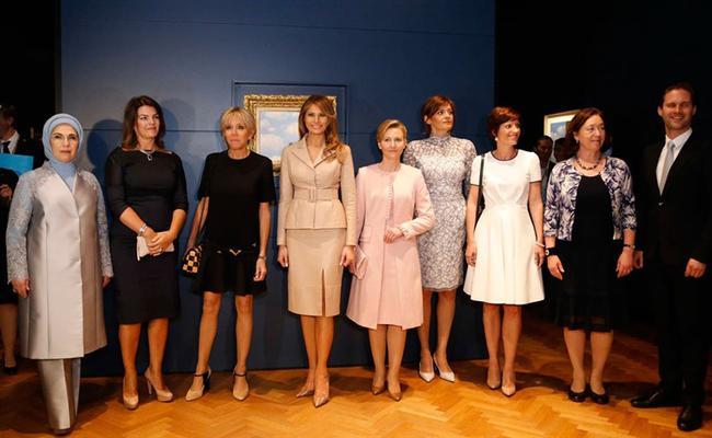 همسر نخست وزیر همجنسگرای لوکزامبورگ در میان همسران سران ناتو (+عکس)