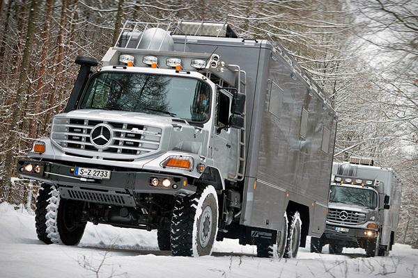 نهایت تجملات و کاربرد در یک کامیون آفرودی مرسدس بنز