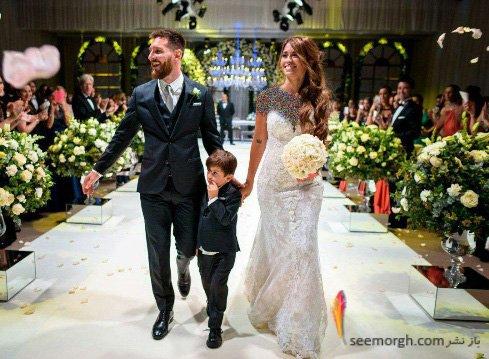 زیباترین عکس از مراسم عروسی مسی (+عکس)