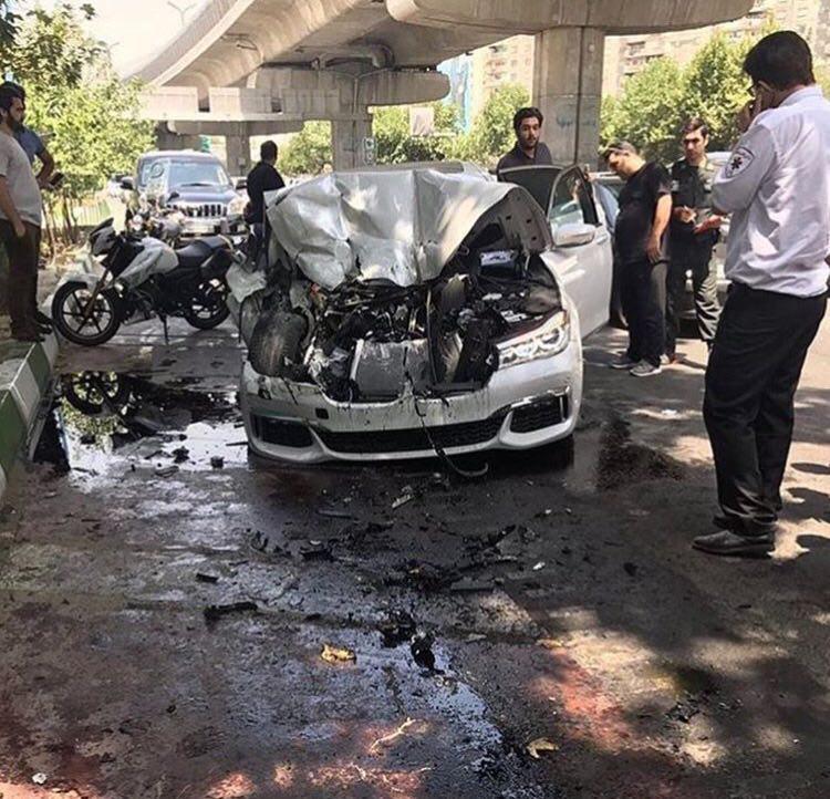 عکس تصادف خودرو تصادف خودرو لوکس تصادف خودرو گرانقیمت تصادف بی ام و bmw crash BMW 7 Series