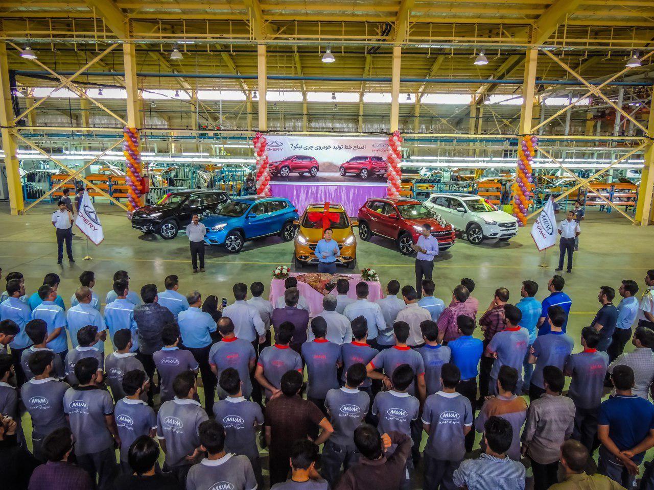 افتتاح خط تولید چری تیگو7 در ارگ جدید بم (+عکس)