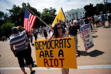 تظاهرات 100 نفر در حمایت از ترامپ در پایتخت آمریکا