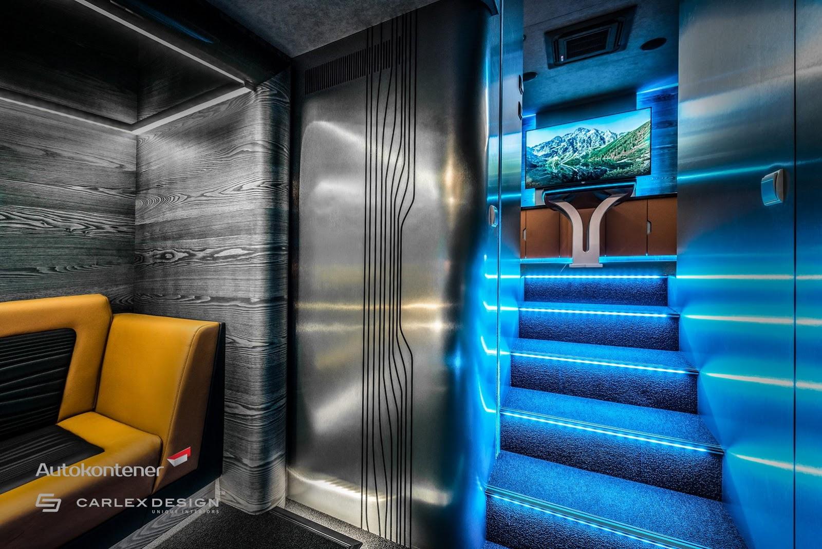 کامیونی با امکانات یک خانه مجلل