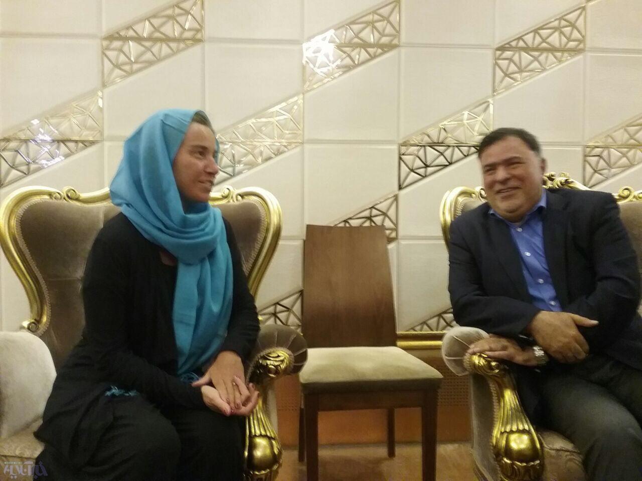 مذاکرات «برجامی» موگرینی با روحانی و ظریف در تهران