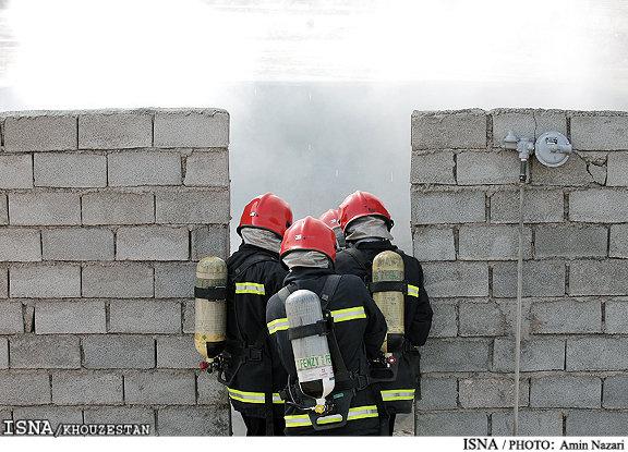 ریزش آوار در یک ساختمان در حال ساخت در