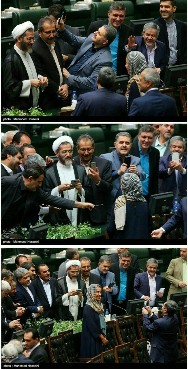 نمایندگان و خانم موگرینی؛ سلفی در پارلمان، ریشه در ایران
