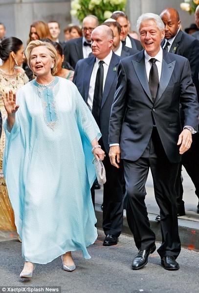 خانم و آقای کلینتون در مراسم ازدواج پولدارها