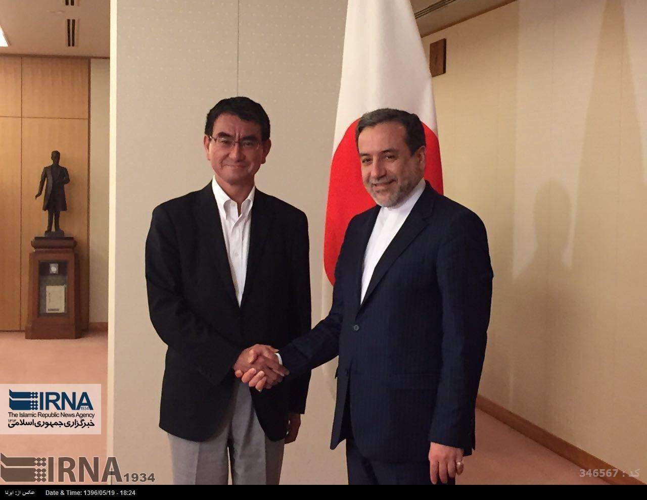 دیدار عراقچی با وزیر امور خارجه ژاپن در توکیو (+عکس)