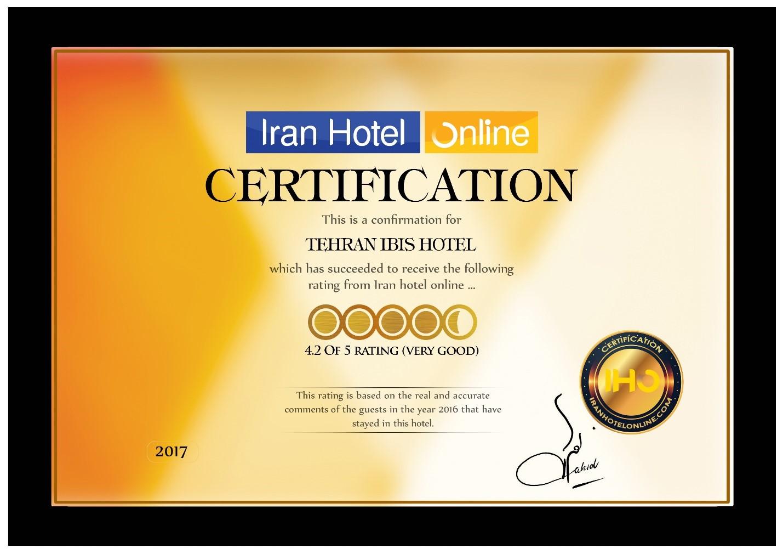 گواهی رضایت مشتریان برای 20 هتل تهران