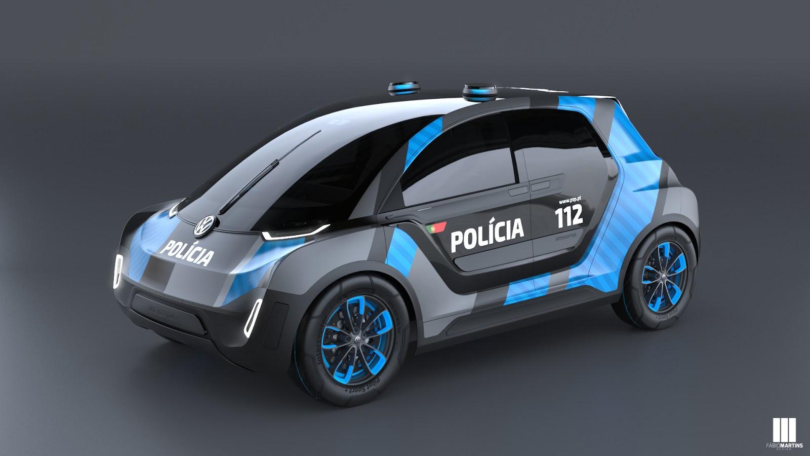 ماشین پلیس مخصوص فولکسواگن برای گشت شهری