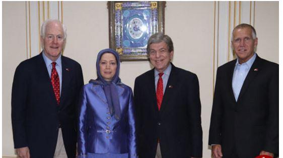 دیدار 3 سناتور آمریکایی با دیدار سرکردۀ گروه منافقین (+ عکس)