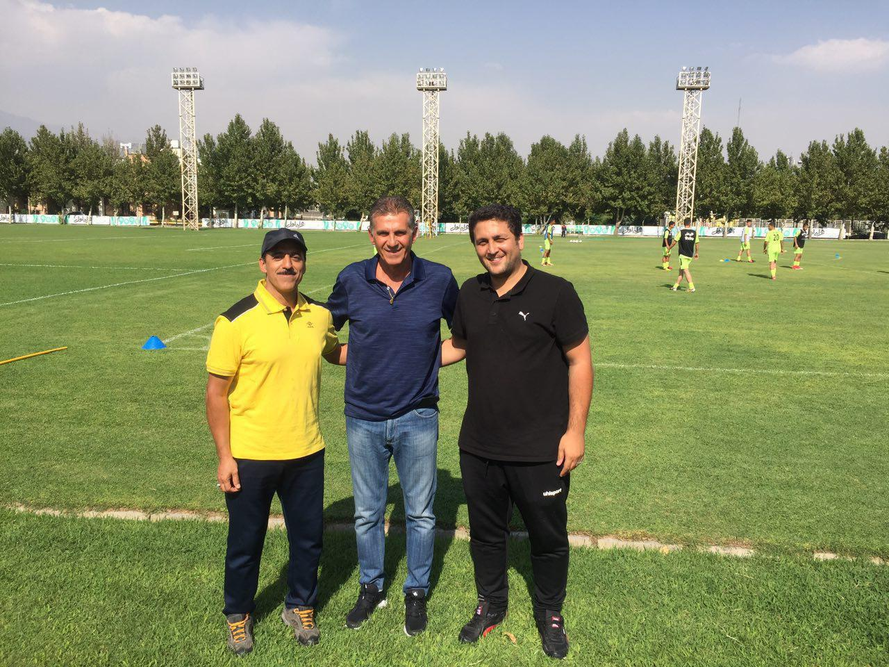 بازدید کیروش از تمرین تیم نوجوانان ایران (+عکس)