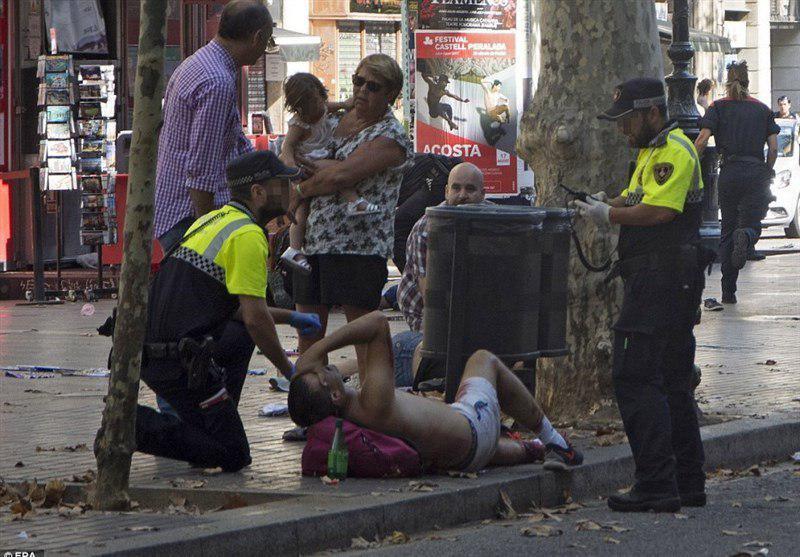حمله تروریستی و گروگانگیری در بارسلون اسپانیا/ 13 کشته و 32 (+عکس)