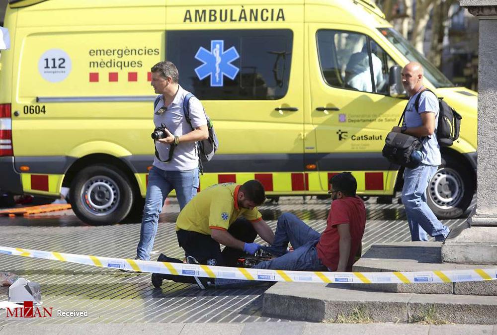 حمله تروریستی و گروگانگیری در بارسلون اسپانیا/ 13 کشته و 50 زخمی (+عکس)/ داعش برعهده گرفت
