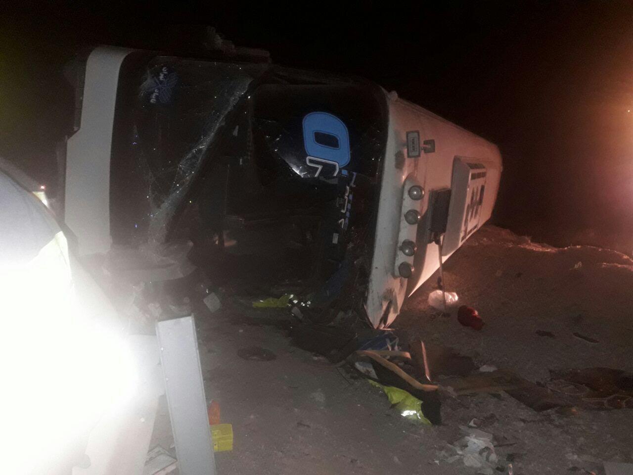 ۳ کشته و ۳۵ مصدوم در واژگونی اتوبوس در شاهرود