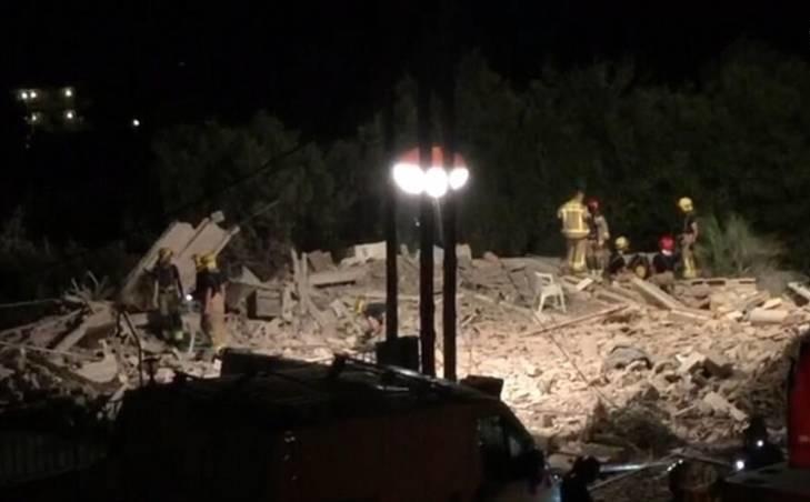 انفجار یک خانه بعد از حمله تروریستی داعش در بارسلون (عکس)