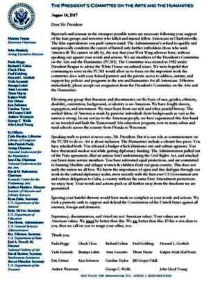 اعضای کمیته هنر کاخسفید هم استعفا دادند