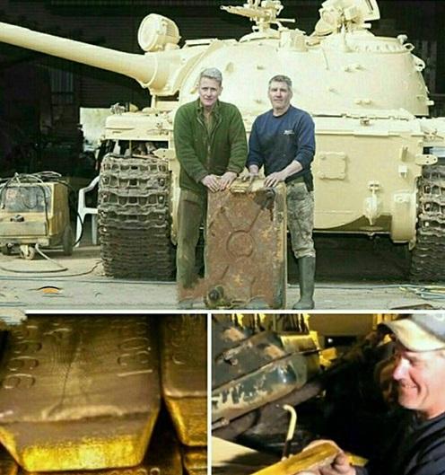 پیدا کردن 5 شمش طلا از تانک جنگ (+عکس)