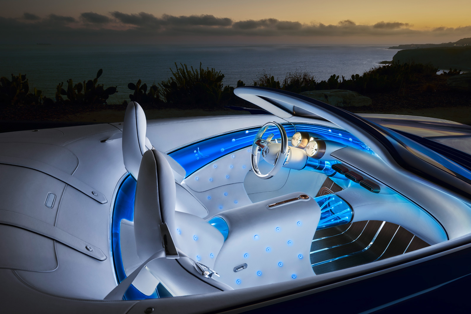 لوکسترین خودروی بدون سقف جهان / مرسدس میباخ ویژن 6
