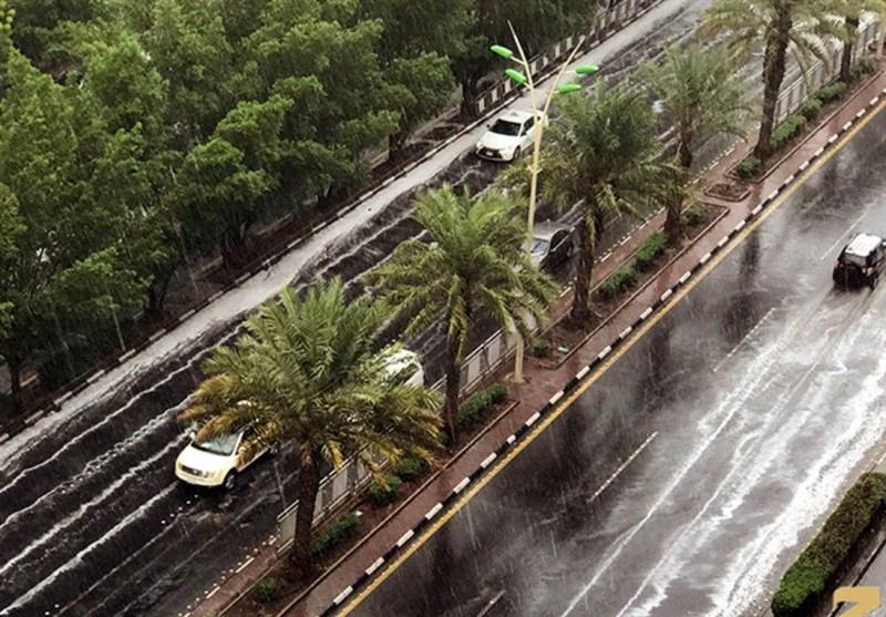 بارش باران شدید در مکه (+عکس)