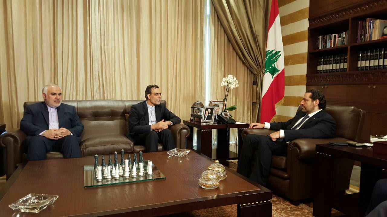 دیدار جابری انصاری با نخست وزیر لبنان (+عکس)