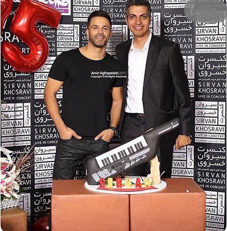 عادل فردوسی پور در جشن تولد خواننده محبوب (عکس)
