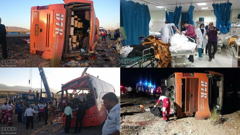 11 کشته و 34 زخمی در حادثه واژگونی اتوبوس دانش آموزان دختر ( +عکس)/ اعلام اسامی جان باختگان و مجروحان/ راننده بازداشت شد