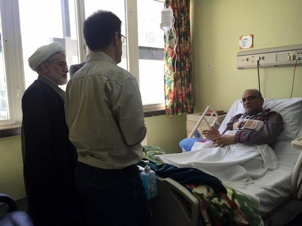 عبدالله نوری به عیادت حسین مرعشی رفت (+عکس)