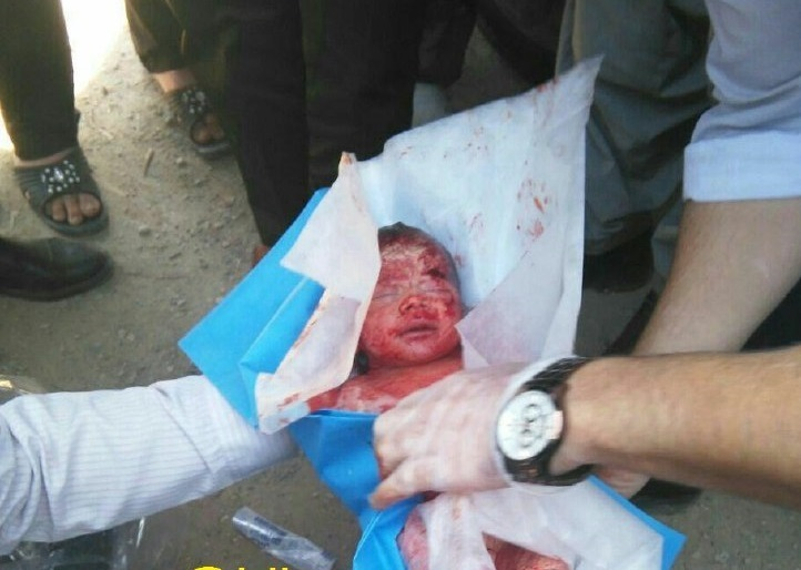 پیدا شدن نوزاد چند روزه در رودخانهای در کرمانشاه (+عکس)